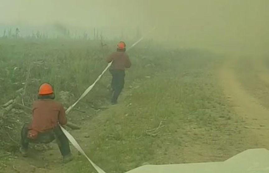 В Канаде вихрь отобрал у спасателей пожарный рукав (ВИДЕО)