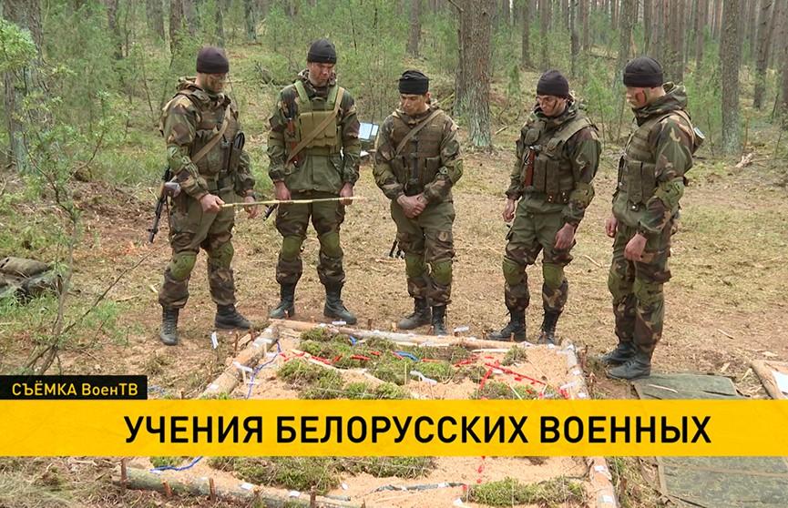 Учения белорусских разведчиков проходят на Обуз-Лесновском полигоне