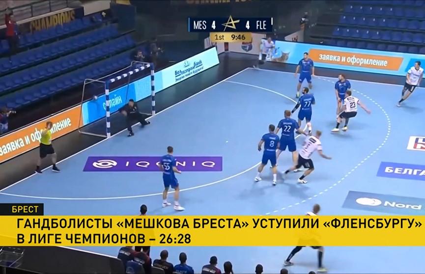 Гандбольный клуб «Мешков Брест» уступил в домашнем матче «Фленсбургу»