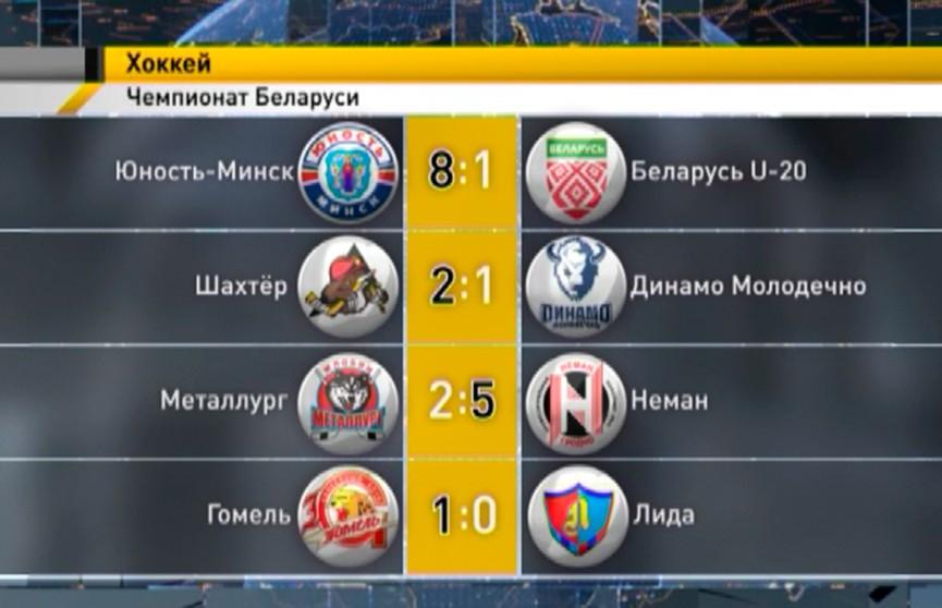 Минская «Юность» одержала шестую победу подряд в чемпионате Беларуси по хоккею