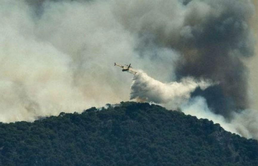 Лесные пожары продолжают бушевать на юге Греции