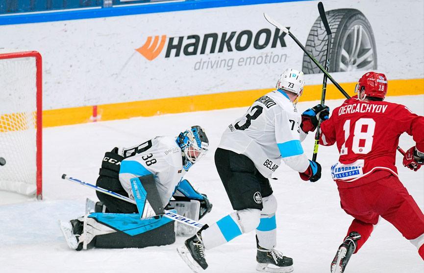 Хоккеисты минского «Динамо» уступили «Витязю» в гостевом матче чемпионата КХЛ