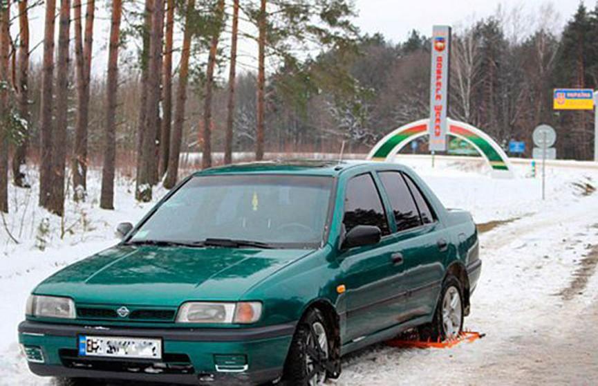 Пьяные украинцы на машине пытались пересечь границу Беларуси