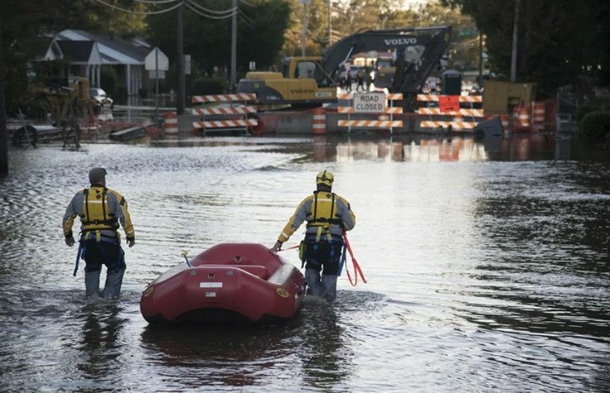 Тропический шторм «Фэй» обрушился на побережье штата Нью-Джерси