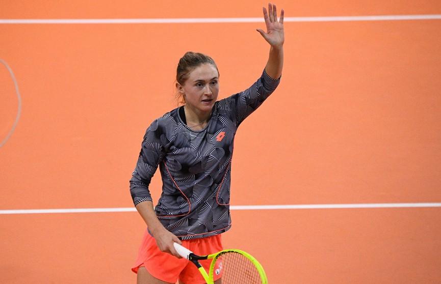 Александра Саснович выступит в 1/16 финала теннисного турнира в Абу-Даби