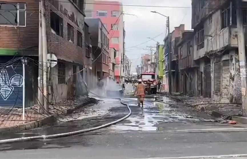 В Колумбии на складе чистящих средств прогремел мощный взрыв