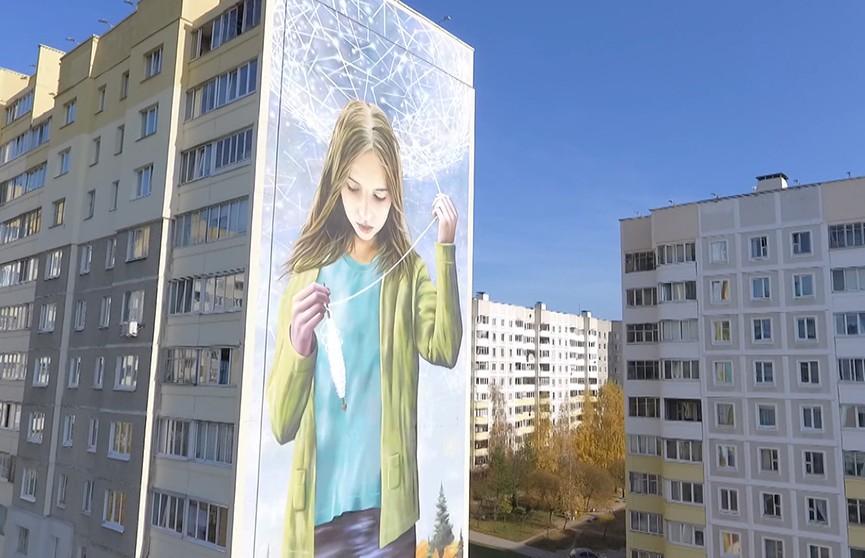 Муза на фасаде: стрит-арт проект «Будучыня» дополнит новая композиция