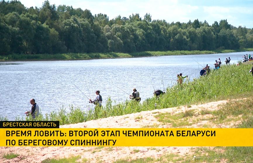 Второй этап чемпионата Беларуси по береговому спиннингу стартовал в Лунинецком районе: секреты удачной рыбалки