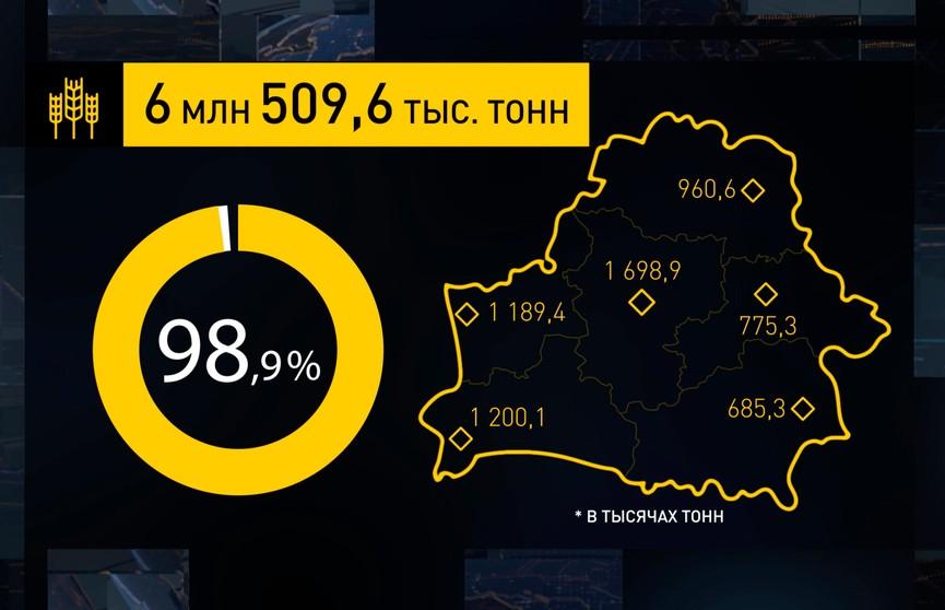 Урожай-2019: до завершения уборки зерновых хлеборобам остался 1%