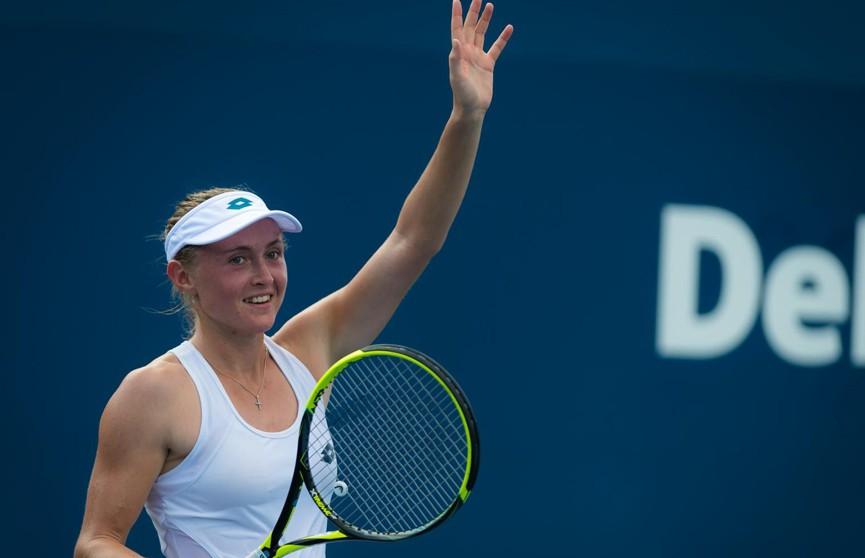 Александра Саснович преодолела первый круг турнира в Сиднее, обыграв Дарью Касаткину