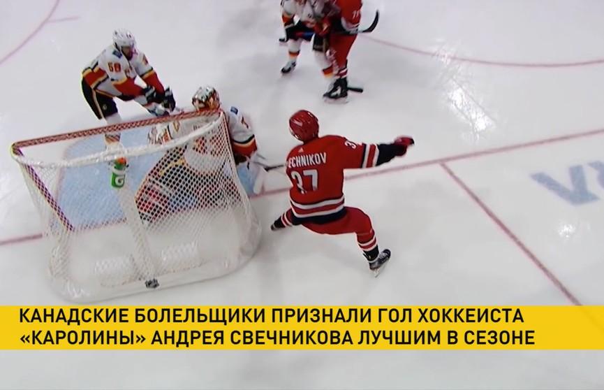 Хоккейные болельщики в Канаде признали гол российского форварда «Каролины» Андрея Свечникова лучшим в сезоне