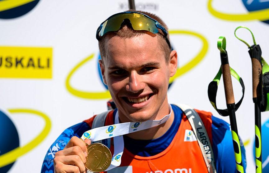 Белорус Дмитрий Лазовский завоевал золото Чемпионата мира по летнему биатлону