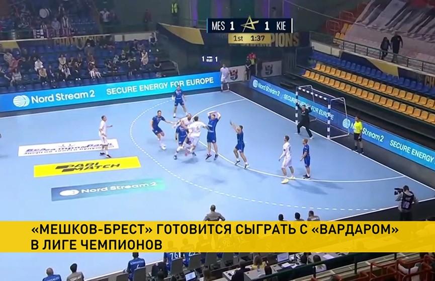 Гандбольный клуб «Мешков-Брест» сыграет с «Вардаром» в Скопье
