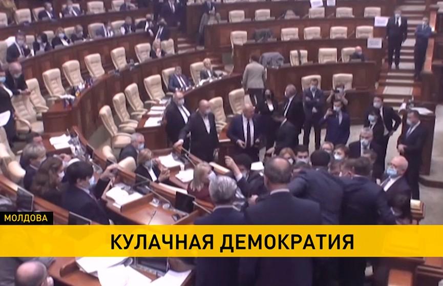 В парламенте Молдовы подрались депутаты