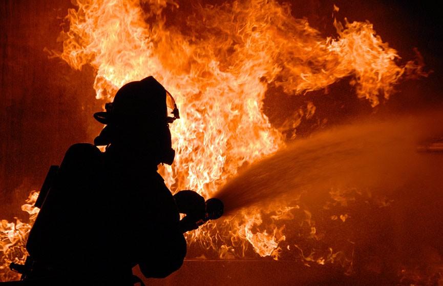 Пожар вспыхнул на заводе в Мексике (Видео)