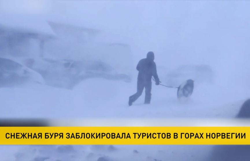 Снежная буря в Норвегии: туристы оказались заблокированы в горах