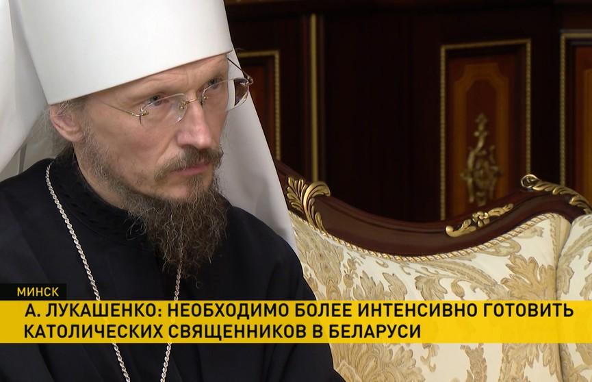 Конфессиональный мир, визит Папы Римского, поправки в Конституцию: что обсуждали  Александр Лукашенко и митрополит Вениамин?