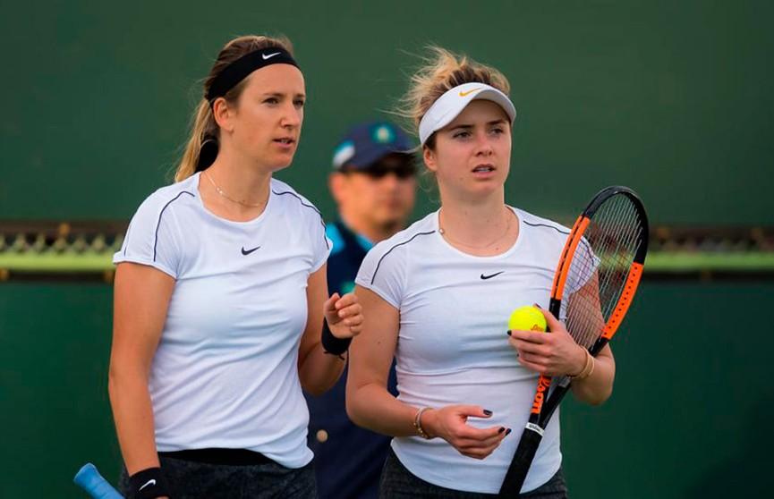 Азаренко в паре c Свитолиной завершили выступление на турнире в Индиан-Уэллсе