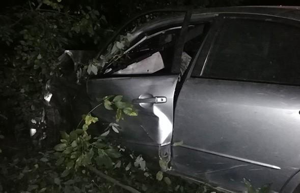 Автомобиль врезался в дерево в Гродно: водитель госпитализирован