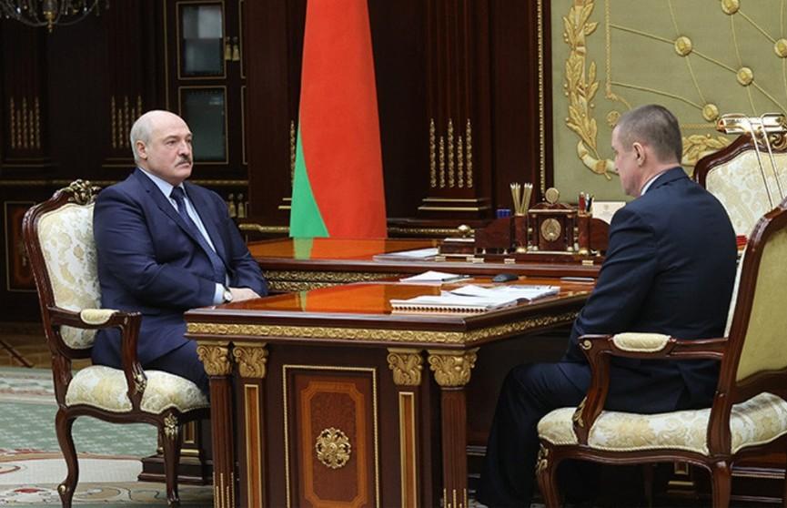Президент принял с докладом председателя Могилевского облисполкома