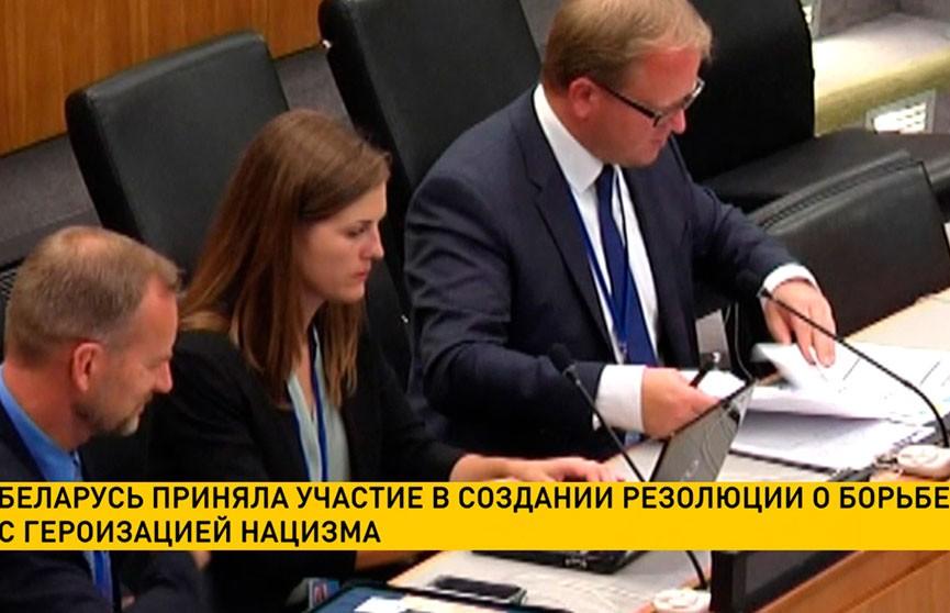 Беларусь приняла участие в создании резолюции о борьбе с героизацией нацизма