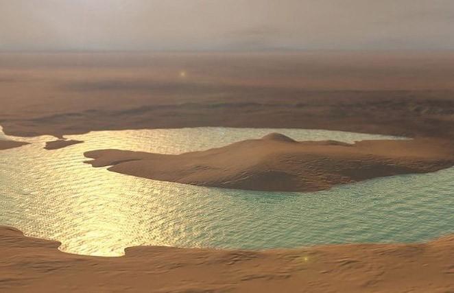 На Марсе обнаружены соленые озера под ледниками