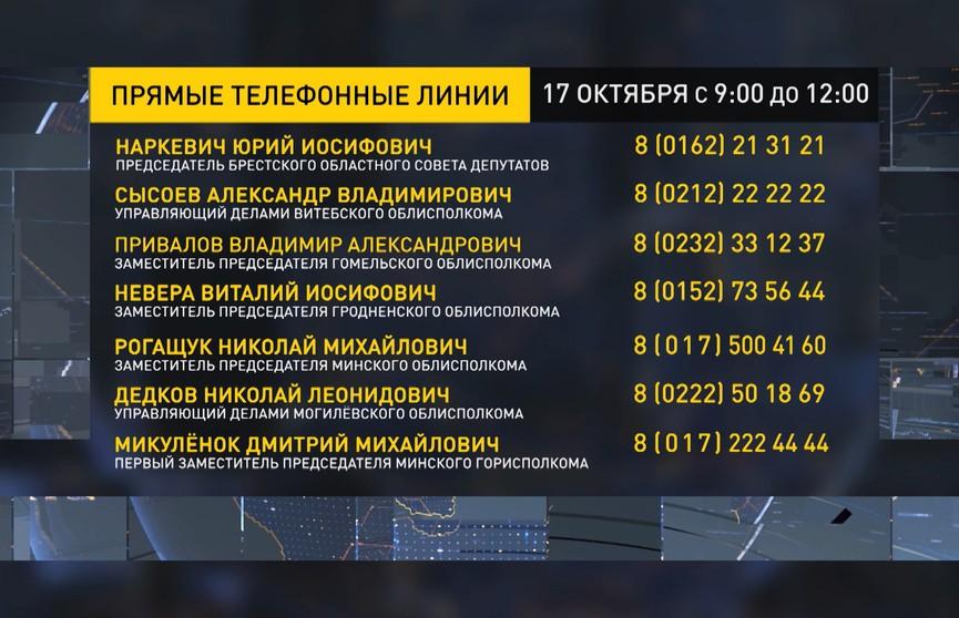 Прямые линии с представителями власти будут работать во всех исполкомах Беларуси