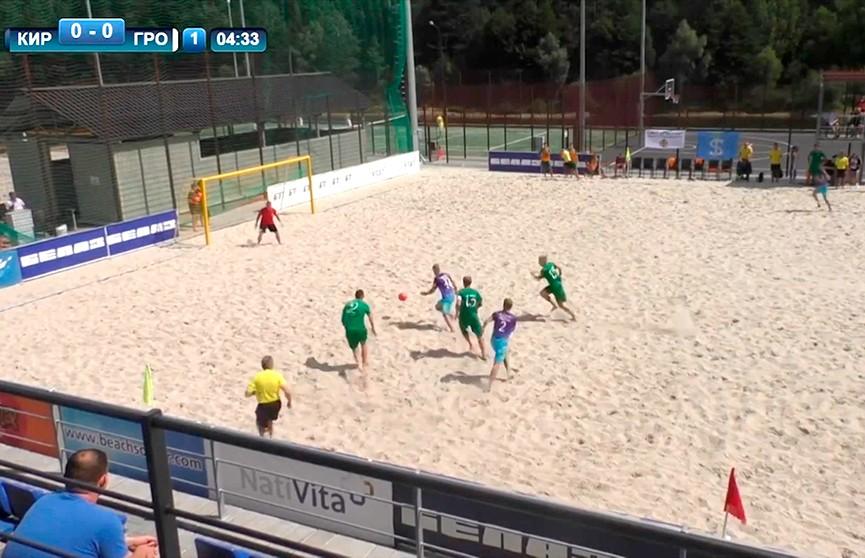 «Гроднооблспорт» стал чемпионом Беларуси по пляжному футболу