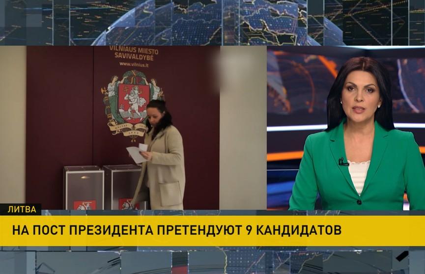 Выборы в Литве. На пост президента претендуют девять кандидатов