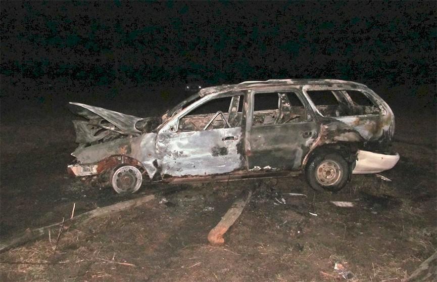 В Лельчицком районе рабочий угнал автомобиль начальника и чуть не сгорел в нём