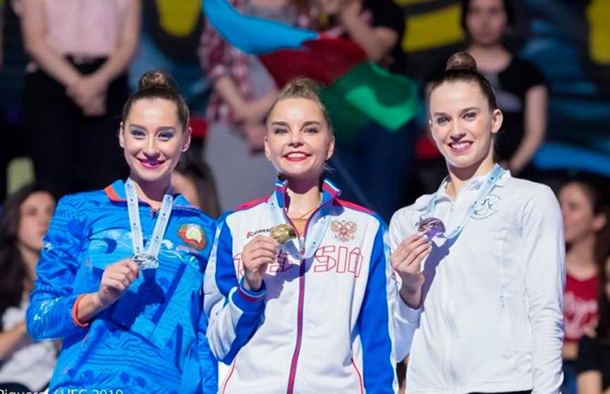 Сборная Беларуси завоевала пять медалей на чемпионате Европы по художественной гимнастике