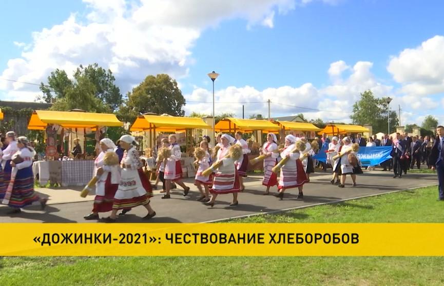 «Дожинки» в Логишине: городской поселок в Брестской области принимает главный праздник урожая