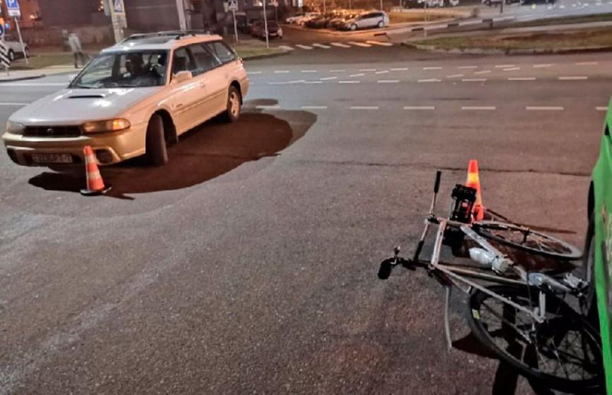 Легковушка сбила велосипедиста в Минске