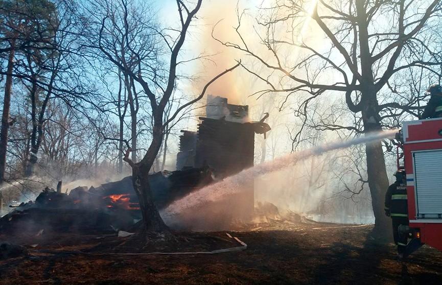 Католический храм сгорел в Городокском районе