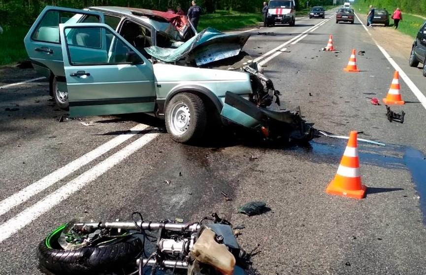 Легковушка и мотоцикл столкнулись под Быховом: оба водителя погибли
