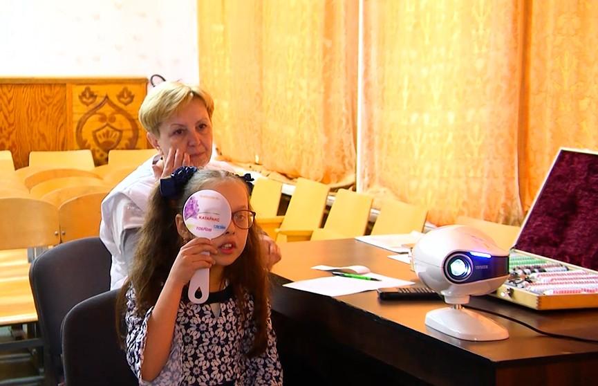 Благотворительный проект «Я вижу»: мобильные бригады офтальмологов проверяют зрение у детей в отдалённых деревнях Витебской области
