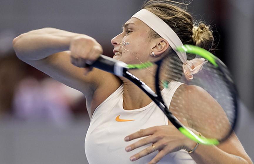 Арина Соболенко успешно стартовала на теннисном турнире в Пекине