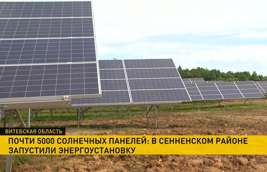 В Витебской области заработала электростанция на солнечных батареях