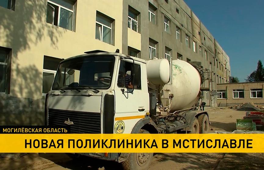 В признанной аварийной Мстиславской районной поликлинике завершается капитальный ремонт