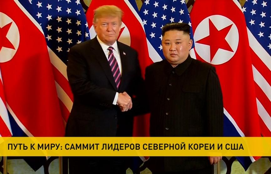 Дональд Трамп и Ким Чен Ын начали переговоры во Вьетнаме