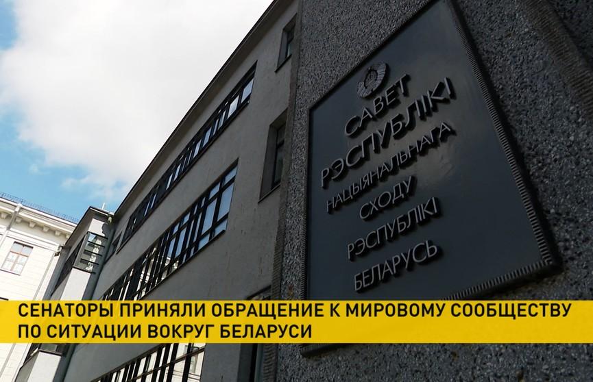 Из-за сложившейся вокруг Беларуси ситуации депутаты оформили обращение к мировому сообществу: ряд стран активно дестабилизирует обстановку в республике