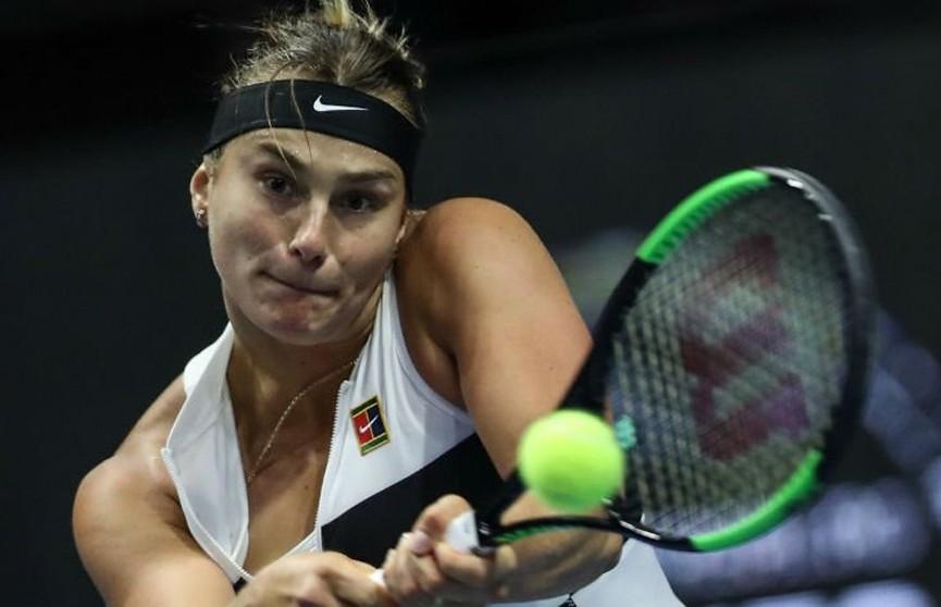 Арина Соболенко не оставила шансов бельгийке ван Эйтванк в 1/8 финала турнира в Санкт-Петербурге