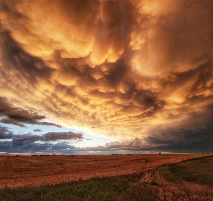 «Такого не увидишь больше нигде!»: удивительный закат в Канаде попал на фото