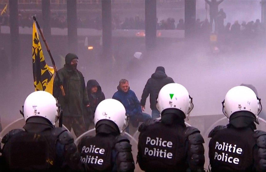 Брюссель приходит в себя после масштабных протестов