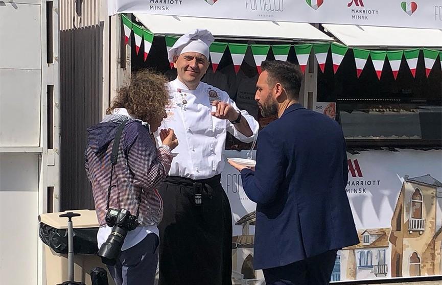 Праздник белорусско-итальянской дружбы в Верхнем городе