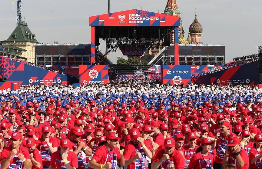 В Москве 4000 человек провели массовую тренировку по боксу и установили рекорд Гиннеса