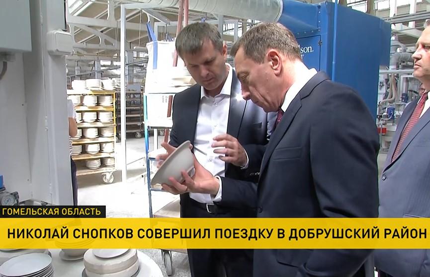 Первый вице-премьер посетил фарфоровый завод и бумажную фабрику в Добруше