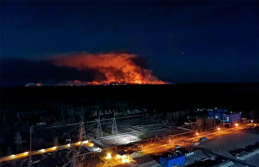 Белгидромет: пожары в Чернобыльской зоне не повлияли на радиационную обстановку в Беларуси