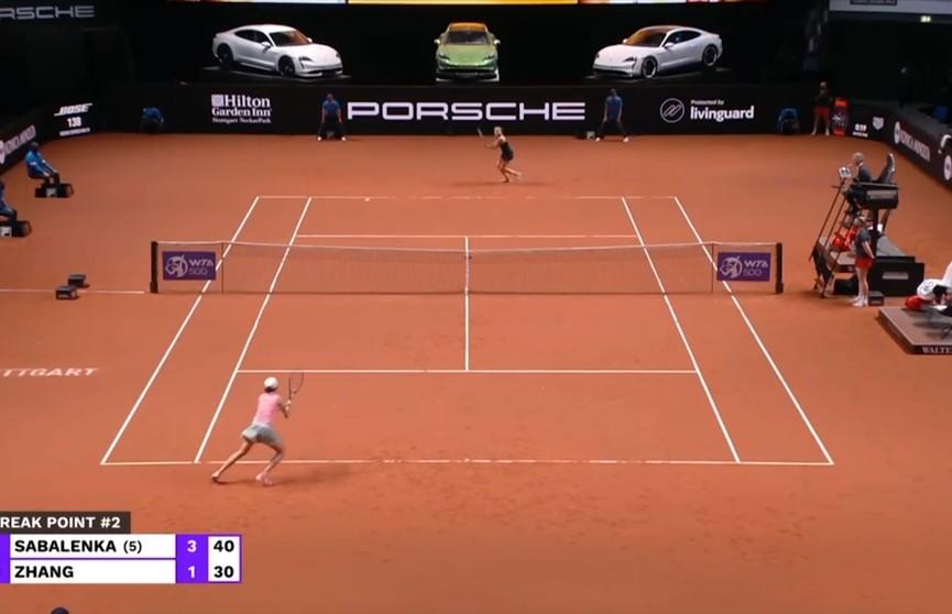 Арина Соболенко вышла в четвертьфинал теннисного турнира в Штутгарте