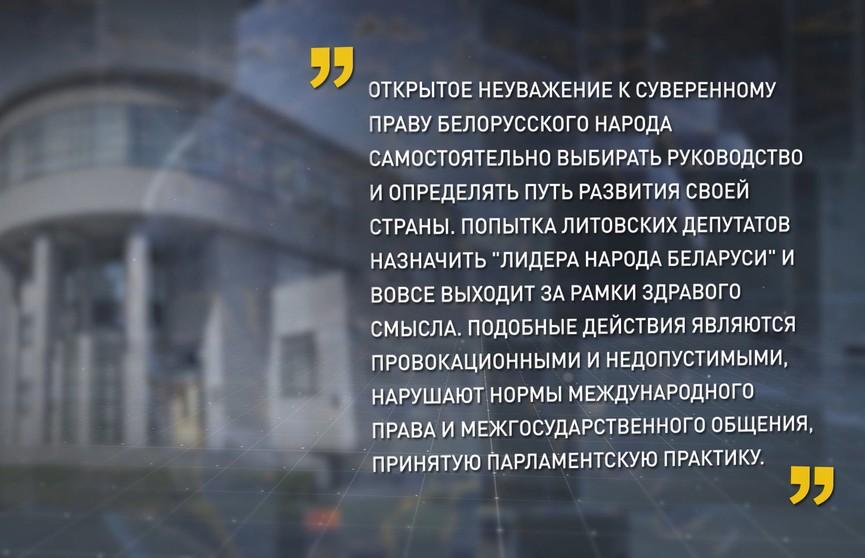 Совет Республики: резолюция Сейма Литвы не соответствует духу добрососедства
